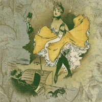 Paris - Folie Bergere Dancers and Fleur de Lys #2 by Kathleen Francour