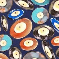 Vinyl - Tossed Record Albums on Blue (Digital)