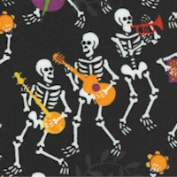 Musical Skeletons on Black