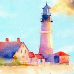 At the Shore - Lighthouse Scenes