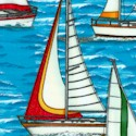 Seaport View - Colorful Sailboats