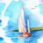 At the Shore - Dreamy Sailboats