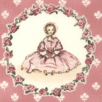 A is for Annabelle on Pink from the Tasha Tudor and Family Collection
