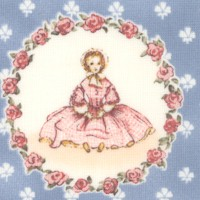A is for Annabelle on Blue from the Tasha Tudor and Family Collection