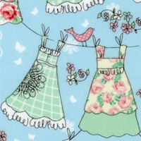 Laundry Day - Colorful Clotheslines
