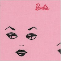 Barbie Faces on Pink