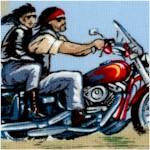 Island Prints - Biker Scenic