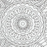 Masquerade 4 - Black and White Line Art Floral