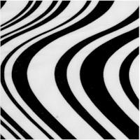 Cool School - Black and White Swirls by Maria Kalinowski