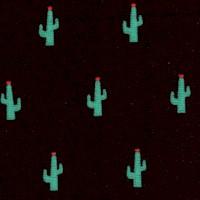 Sevenberry: Mini Prints - Cactus on Black