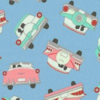 Going Steady - Tossed Retro Cars with Cuddlng Couples