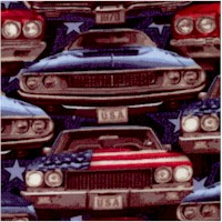 American Muscle - Classic Cars Head-On by Chelsea Design Works