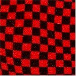 Race Day - Black and Red Wavy Checkerboard