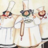 Pastry Chefs Vertical Stripe by Jennifer Garant