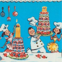 A Spoonful of Sugar Vertical Chef Stripe - LTD. YARDAGE AVAILABLE (1.17 YDS; MUST BE PURCHASED IN FU