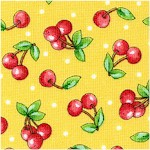 Mottos to Live By - Tossed Cherries on Gold by Mary Engelbreit