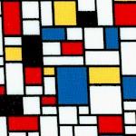 Color Composition - Mondrian Style Geometric #2