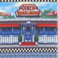 Today's Special - Retro Diner Vertical Stripe