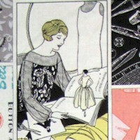 The Dressmaker Collection - Vintage Sewing Collage by Amy Barickman