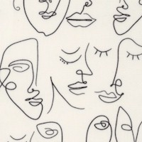 Luna and Laurel - Perfectly Imperfect Line Drawn Faces on Ivory