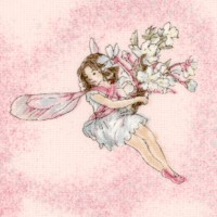 Tossed Flower Fairies with Pearlescent Highlights by Cicely Mary Barker