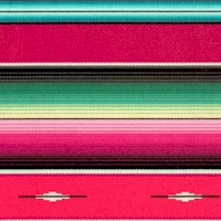 Fiesta - Colorful Southwestern Serape Stripe - Red