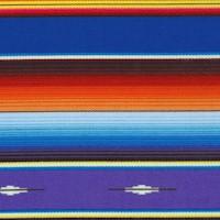 Fiesta - Colorful Southwestern Serape Stripe - Royal Blue