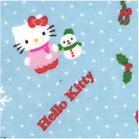 Hello Kitty Merry Christmas on Blue FLANNEL