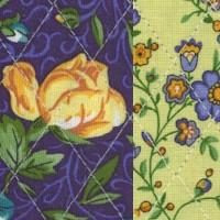 Reversible Quilted, La Fleur - SALE! (1 YARD MINIMUM PURCHASE)