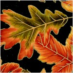 Fall's Tapestry - Gilded Spiced Leaves on Black