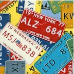 Coast to Coast - Packed U.S. License Plates
