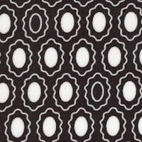 Lily - Oval Cameo Dots in Black and White by Alice Kennedy