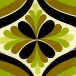 Retro Melrose Mod Design in Moss Green