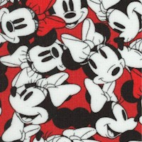Minnie Tossed Pack in Red, Black and White