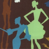 You Got the Notion - Retro Runway Model Silhouettes - LTD. YARDAGE AVAILABLE