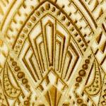 Beau Monde - Gilded Art Deco Lace on Cream