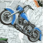 Coast to Coast - Tossed Motorcycles on U.S. Maps