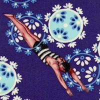 Neptune & the Mermaid - Song of the Siren on Navy Blue