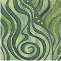 Oceanica - Swirling Seas in Green by Julie Paschkis