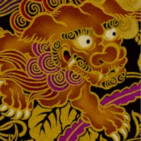 Hyakka Ryoran - Magnificent Gilded Dragon and Phoenix on Black