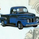 The Pickup - Vintage Trucks on Ivory - LTD. YARDAGE AVAILABLE IN 2 PIECES