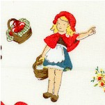 Little Red Riding Hood - Tossed on Cream