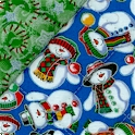 Reversible Quilted, Christmas Quilt with Silver Metallic Highlights