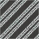 Trucks - Diagonal Tire Tracks in Black and White