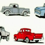 Old Guys Rule - Small Scale Pickup Trucks on Ivory