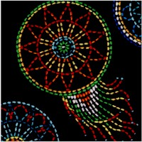 Tucson - Beaded Style Dreamcatchers on Black