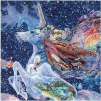 Celestial Journey - Unicorn Flight by Josephine Wall - 43 inches wide