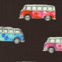 Magic Bus - Retro Mini-Vans on Black