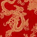 Birdsong - Oriental Toile on Red