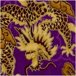 China Doll - Magnificent Gilded Dragons on Soft Sateen